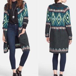 Free People Fair Isle Mohair Sweater coat